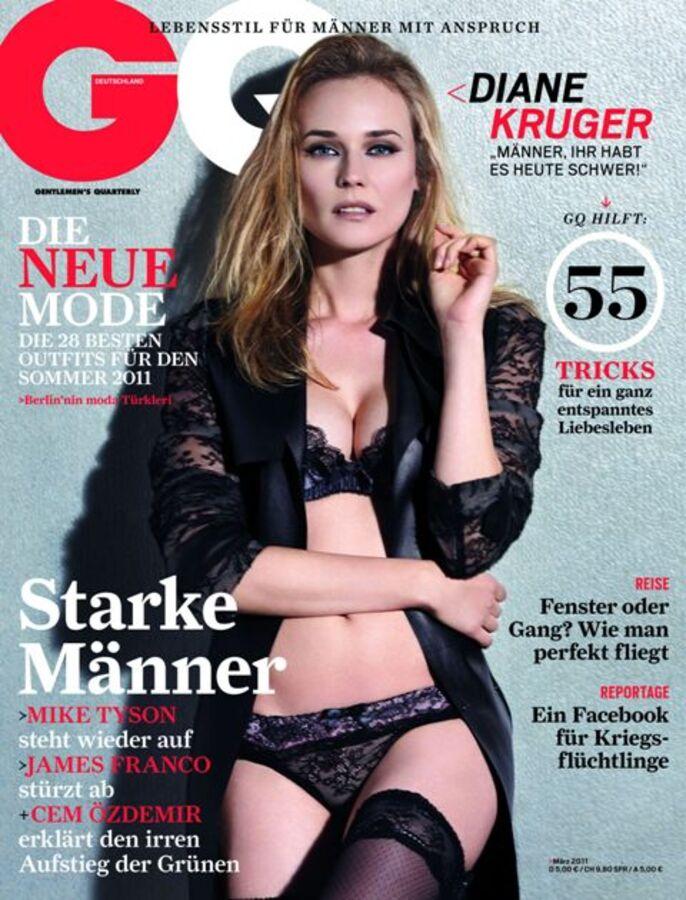 Дайан Крюгер в журнале GQ. Германия. Март 2011