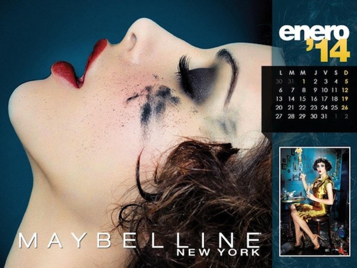 Календарь от Maybelline 2014 года