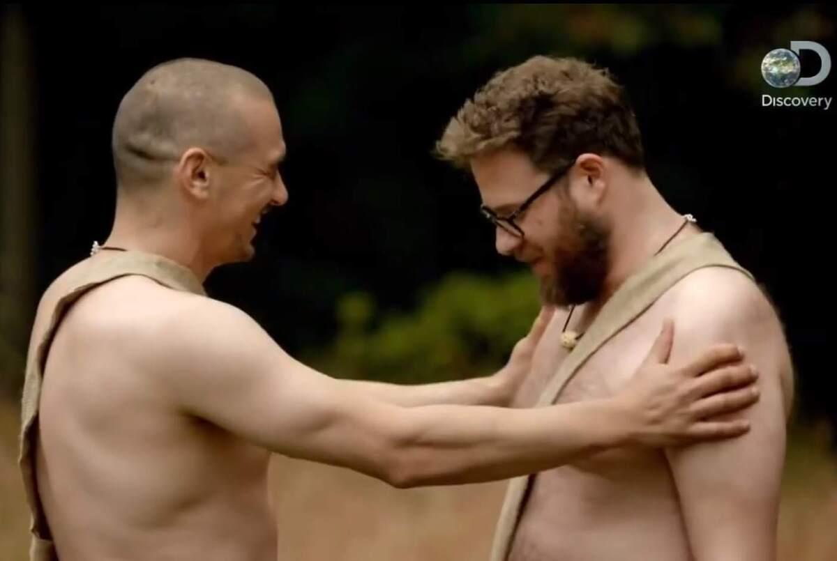 Видео: Сет Роген и Джеймс Франко разделись для шоу «Голые и напуганные»