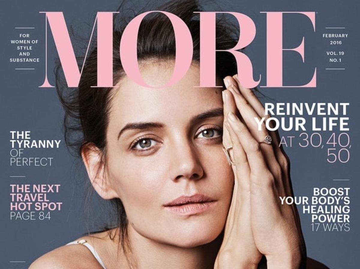 Кэти Холмс снялась без макияжа в фотосессии для More Magazine