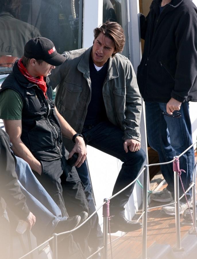 Том Круз на съемках фильма «Миссия невыполнима 4» в Праге