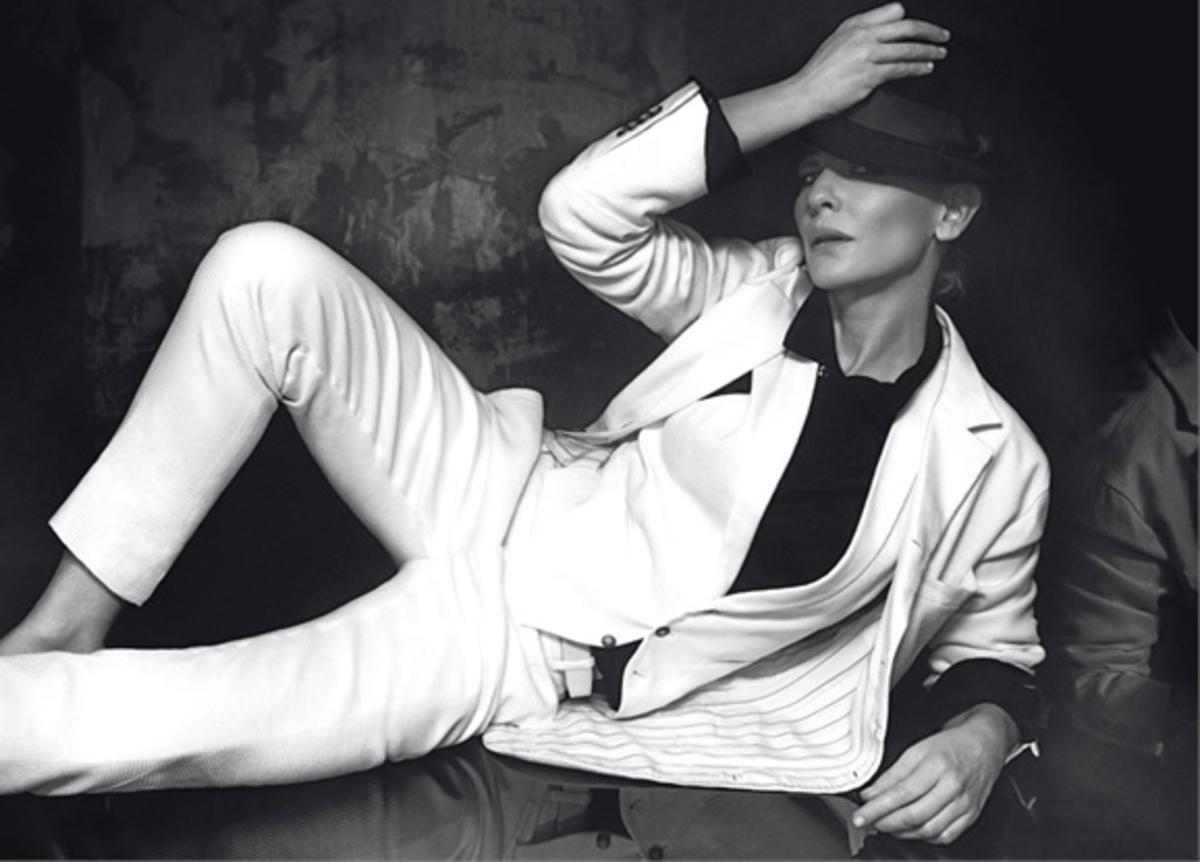 Кейт Бланшетт в журналах L'Uomo Vogue и Vanity Fair