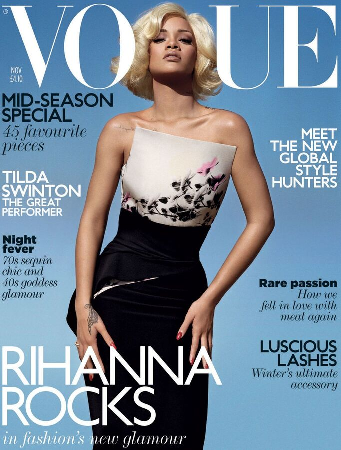 Рианна в журнале Vogue UK. Ноябрь 2011
