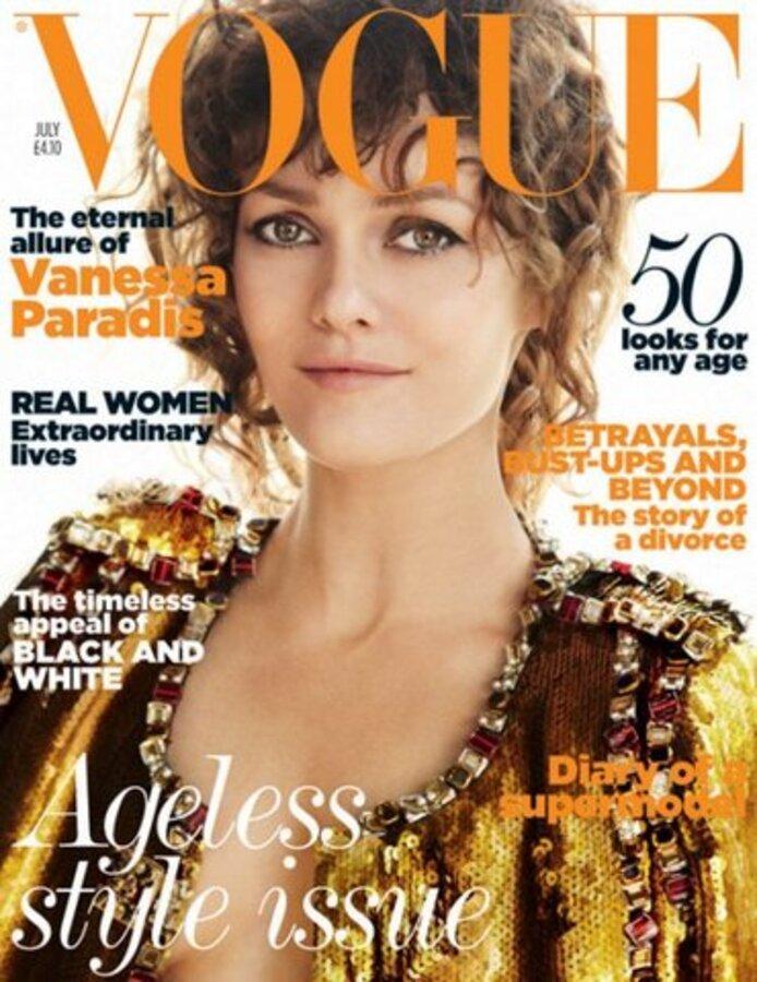 Ванесса Паради в журнале Vogue. Июль 2011