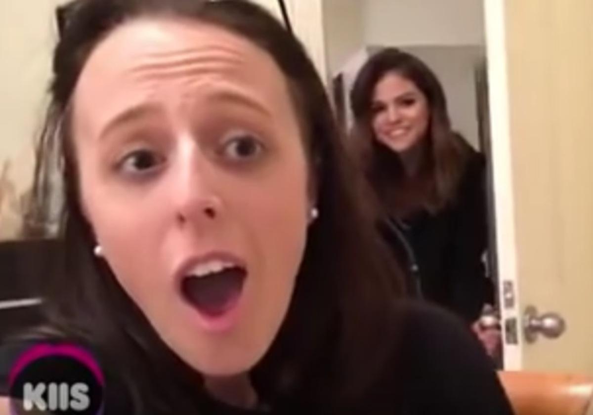 Видео: Селена Гомес устроила сюрприз для поклонницы