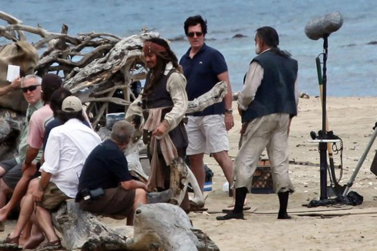 """Первые кадры со съемок новых """"Пиратов Карибского моря"""""""
