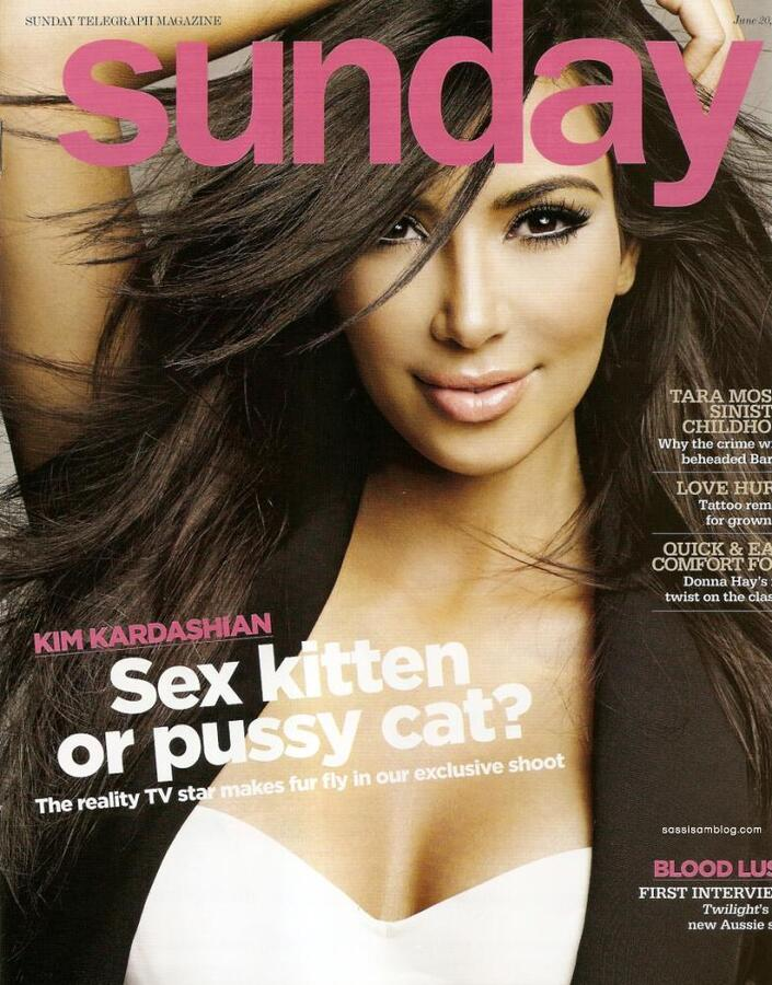 Ким Кардашиан в журнале Sunday