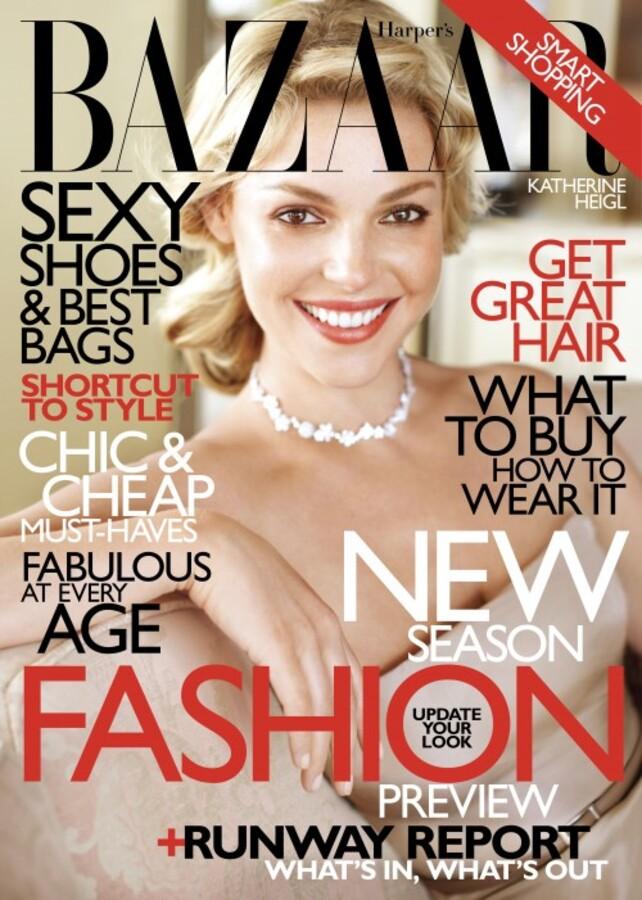 Кэтрин Хайгл в журнале  Harper's Bazaar. Июнь 2010