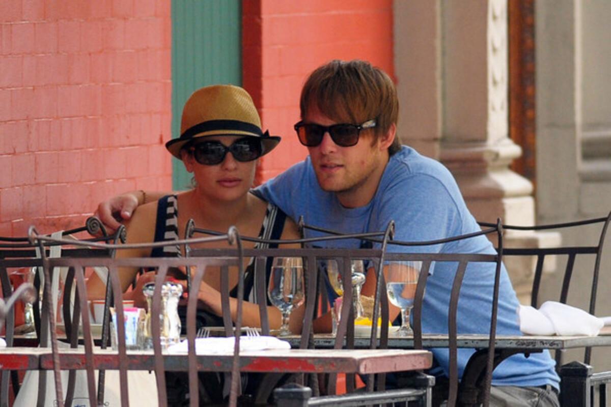 Лиа Мишель с бойфрендом в Нью-Йорке