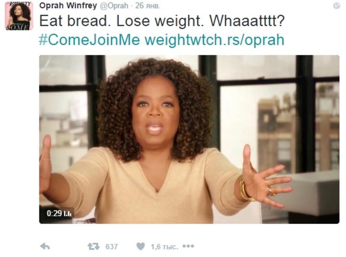 Опра Уинфри заработала 12 миллионов долларов за одно сообщение в Twitter