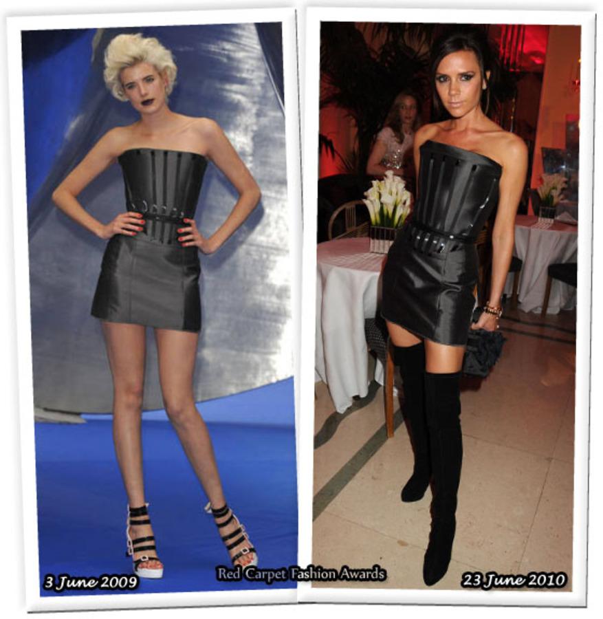 Fashion battle: Агнесс Дейн и Виктория Бэкхем