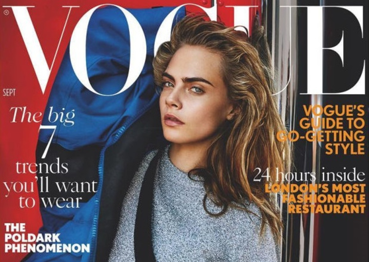 Кара Делевинь снялась для обложки сентябрьского Vogue UK