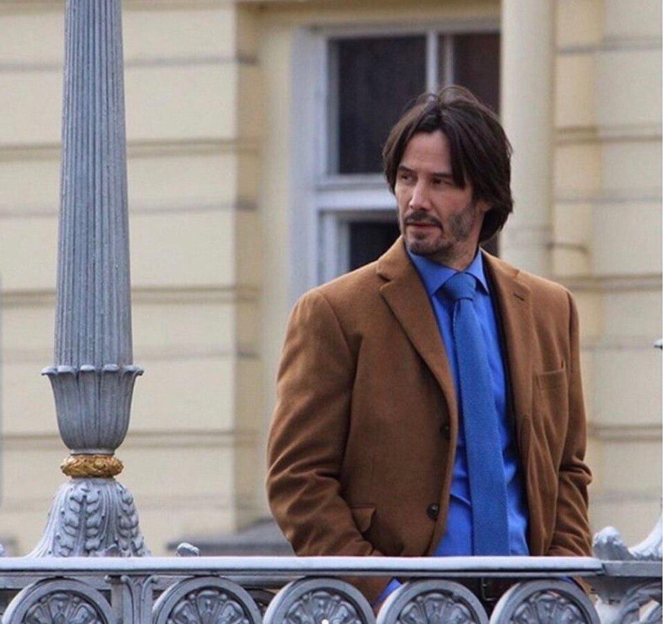 Фото: Киану Ривз на съемках нового фильма «Сибирь» в Санкт-Петербурге