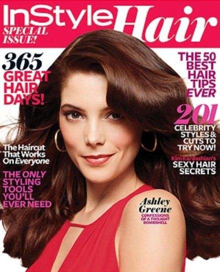 Эшли Грин в журнале InStyle Hair. Весна 2011