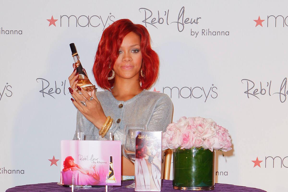 Рианна на презентации своего нового аромата Reb'l Fleur