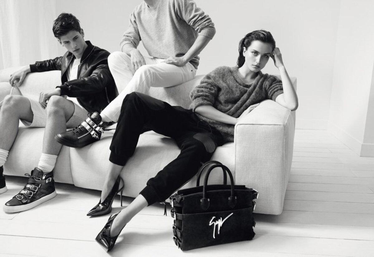 Рекламная кампания обуви Giuseppe Zanotti. Осень / Зима 2015