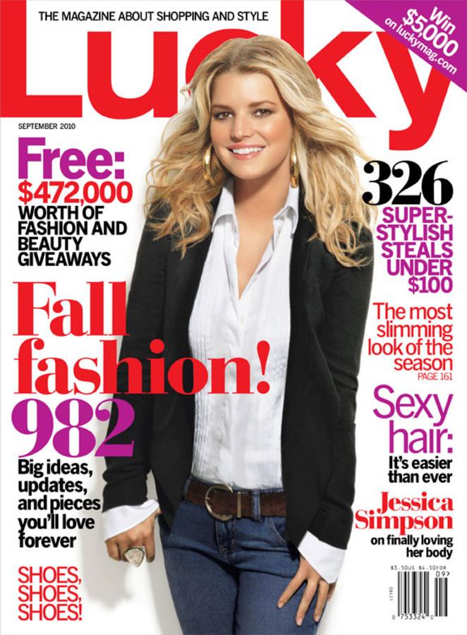 Джессика Симпсон в журнале LUCKY. Сентябрь 2010