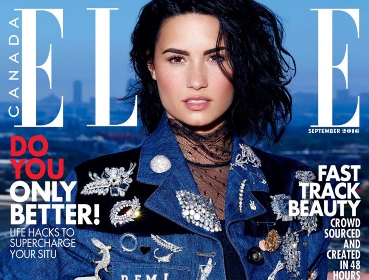 Деми Ловато украсила обложку сентябрьского Elle