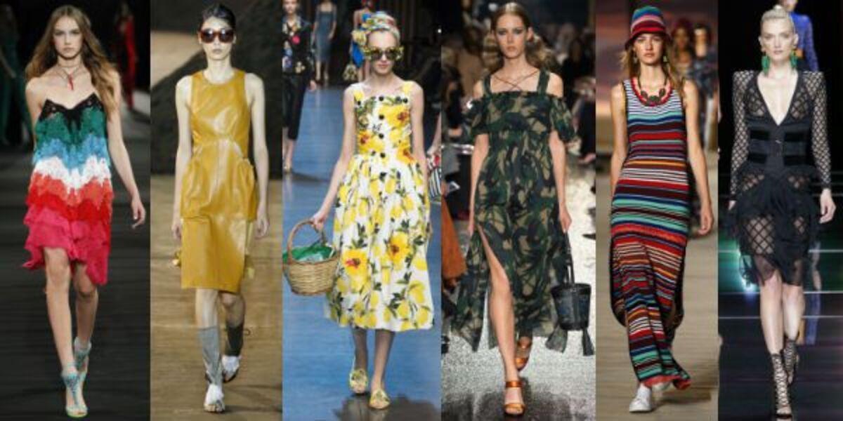 Фото обзор: модные платья лета 2016