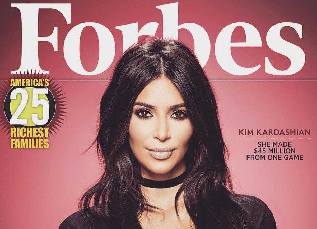 Ким Кардашьян снялась для обложки Forbes