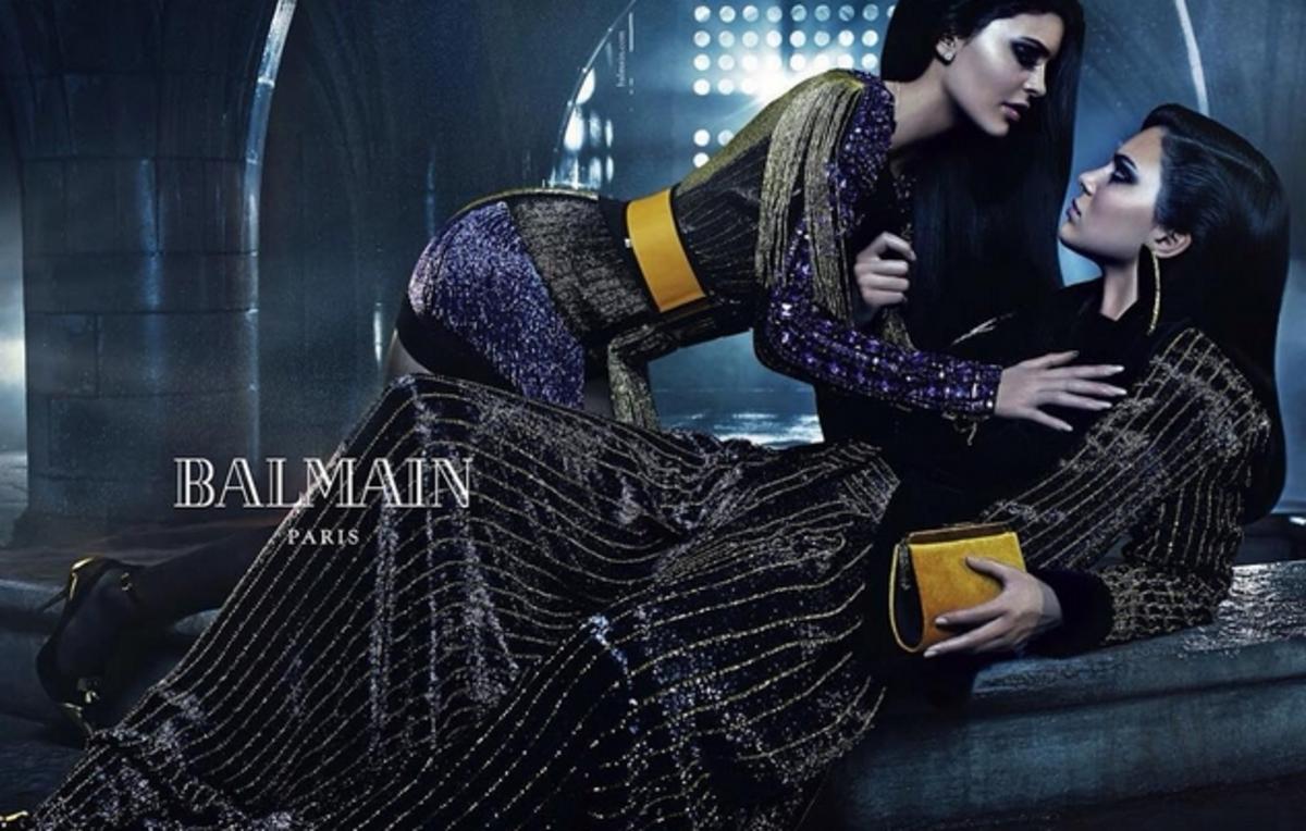 Кайли и Кендалл Дженнер снялись в рекламной кампании Balmain. Осень / зима 2015