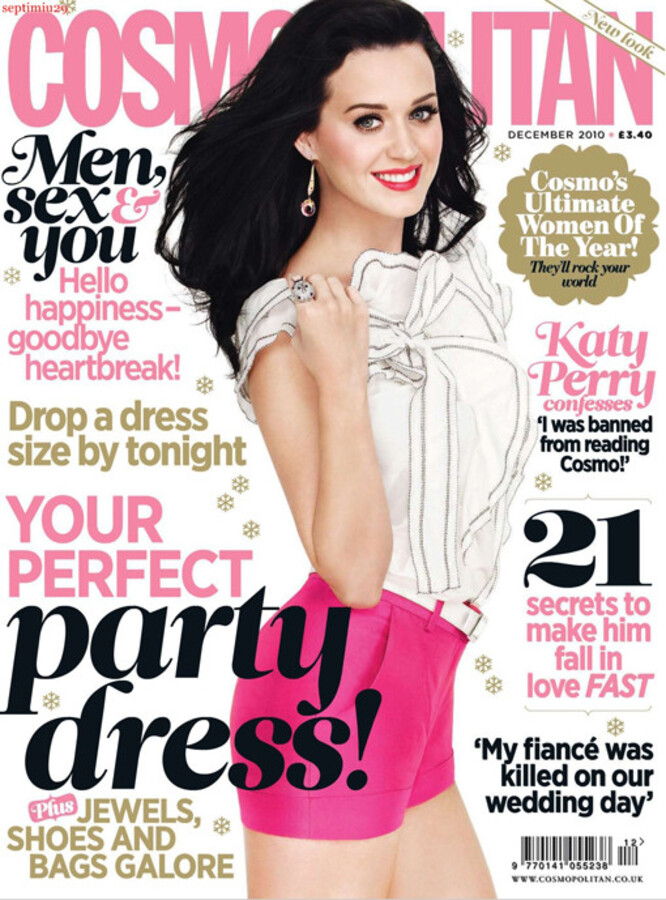 Кэти Перри в журнале Cosmo UK. Декабрь 2010