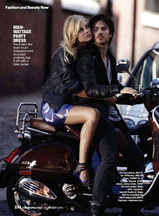 Йен Сомерхалдер в журнале Cosmopolitan Ноябрь 2010 и Vanity Fair Italia Октябрь 2010 с Полом Уэсли