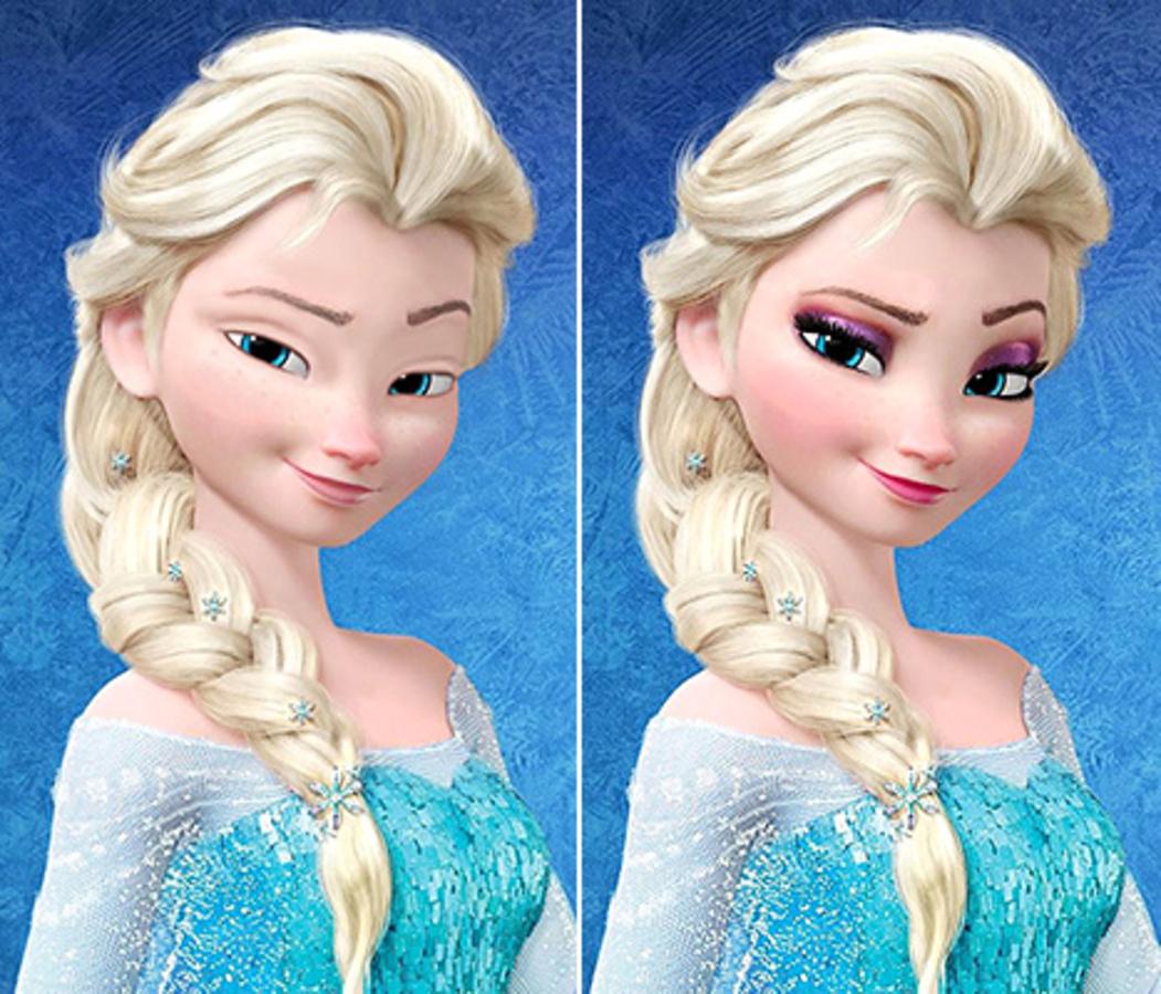 Как диснеевские принцессы выглядят без макияжа?