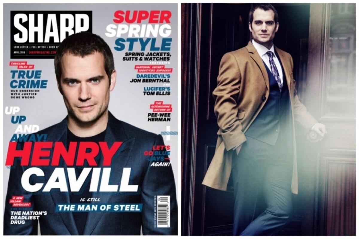 Фото: «Супермен» Генри Кэвилл в фотосессии для Sharp, апрель 2016