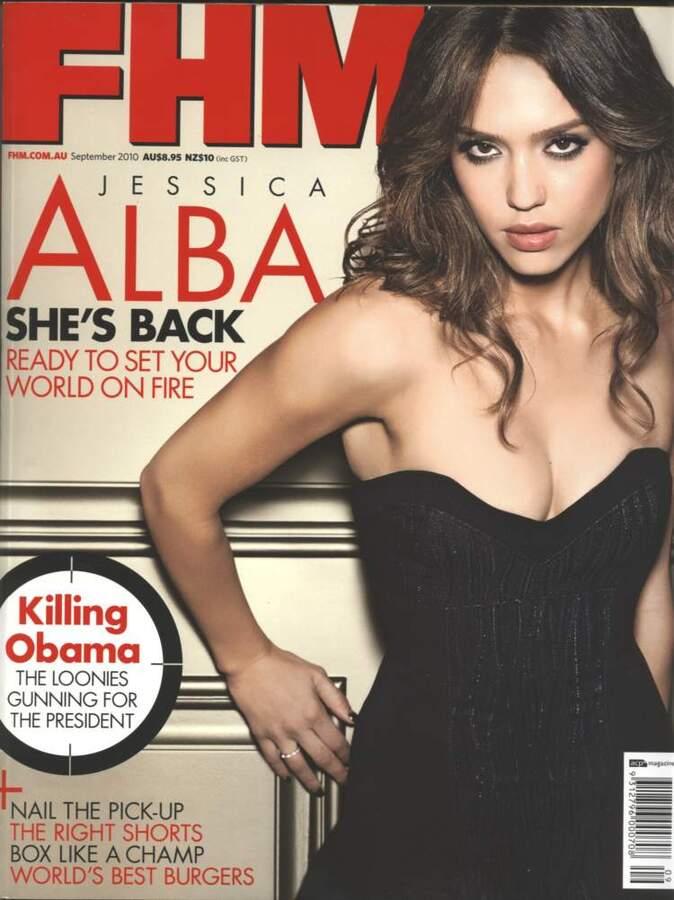 Джессика Альба в журнале FHM Австралия. Сентябрь 2010