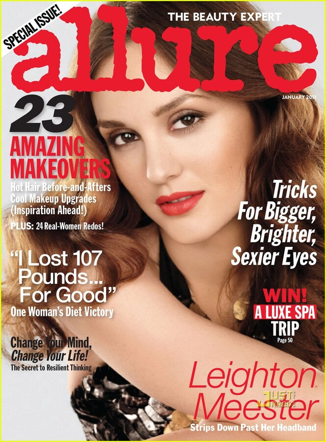 Лейтон Мистер в журнале Allure. Январь 2011