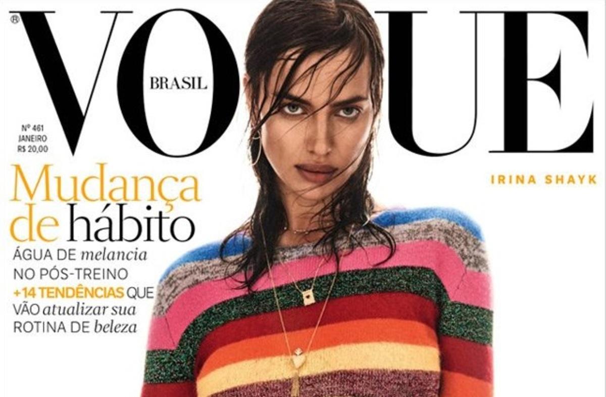 Ирина Шейк украсила сразу две обложки январского Vogue Brazil