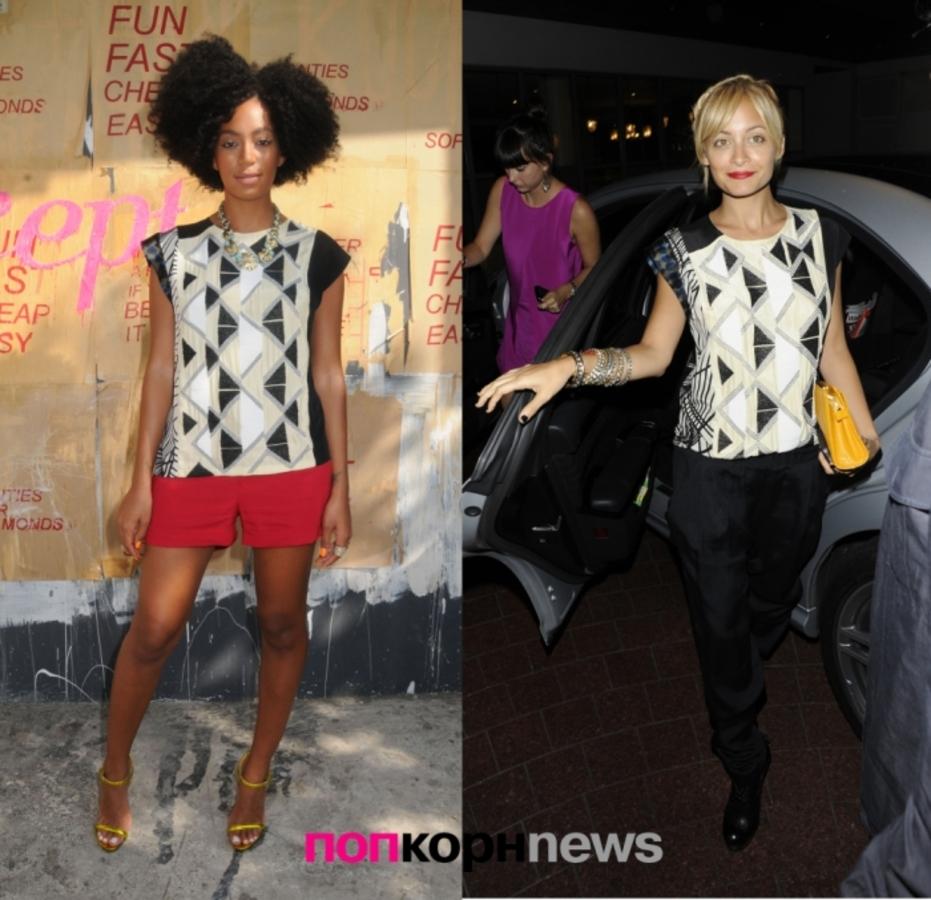 Fashion Battle: Соландж Ноулз и Николь Ричи