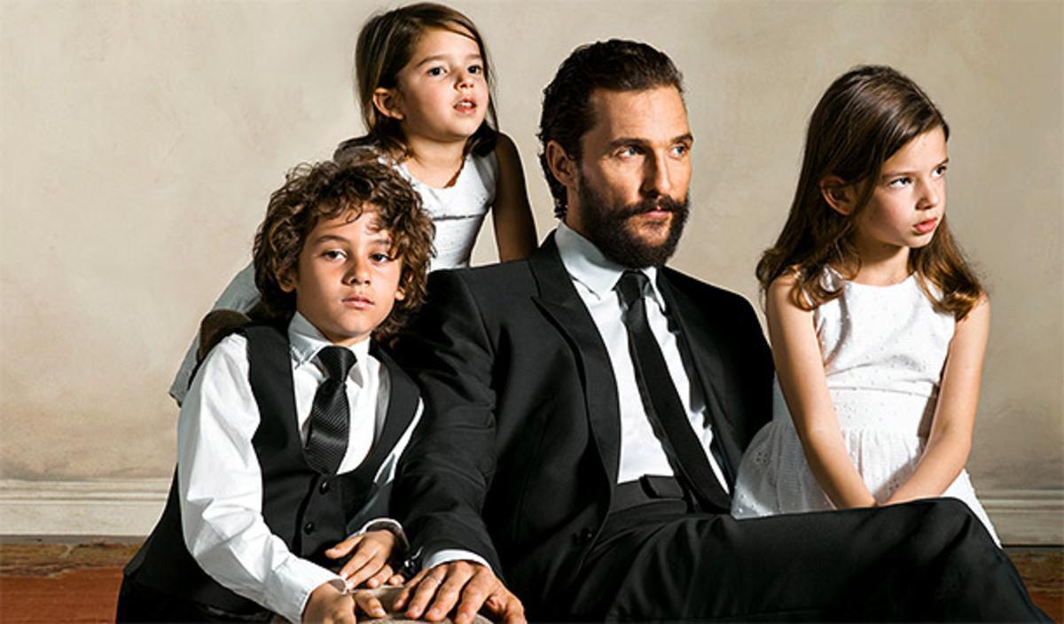 Мэттью МакКонахи  и его дети снялись в новой рекламной кампании Dolce & Gabbana