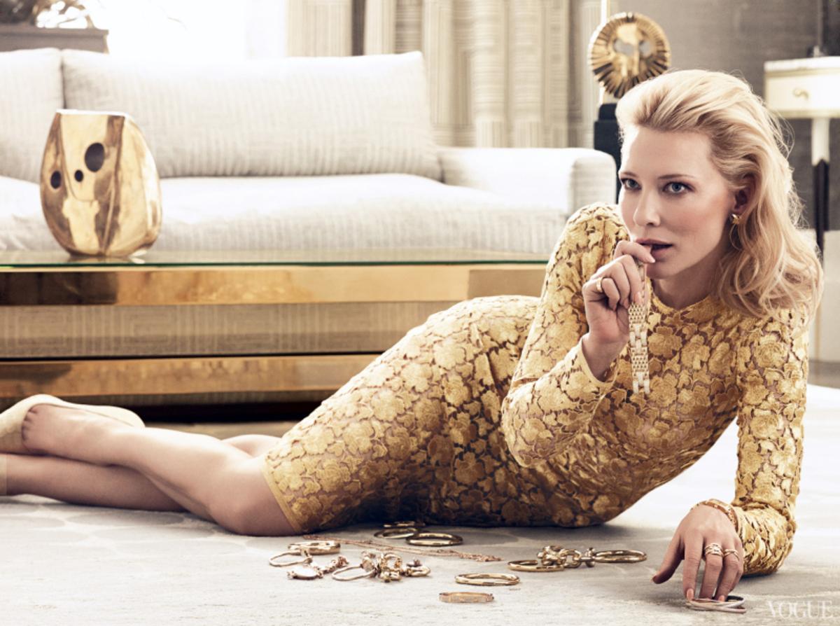 Кейт Бланшет в журнале Vogue US. Январь 2014