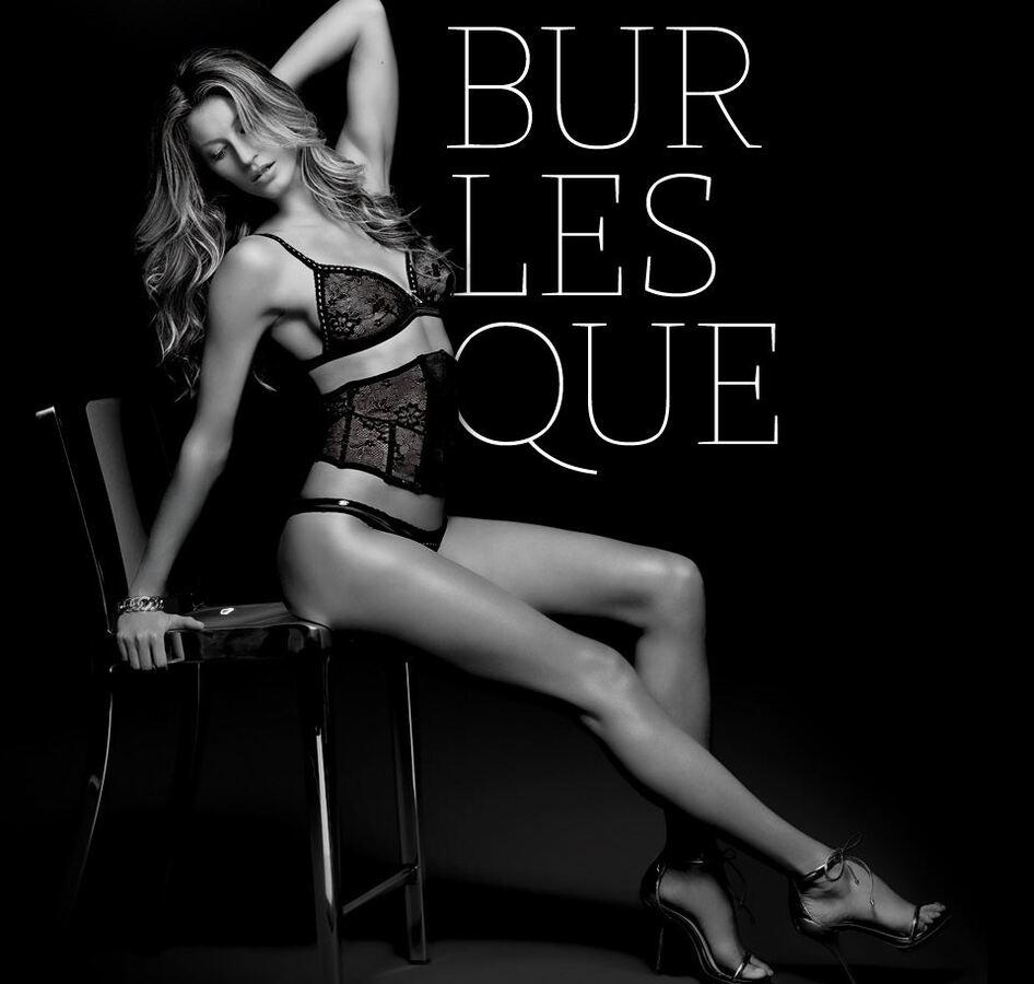 Жизель Бундхен в рекламной кампании нижнего белья Burlesque