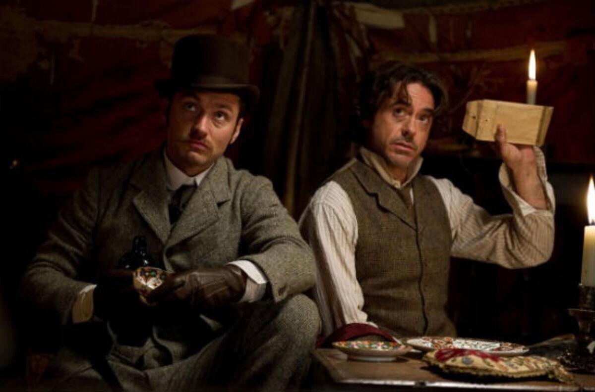 Репортаж канала ET со съемочной площадки фильма «Шерлок Холмс 2»