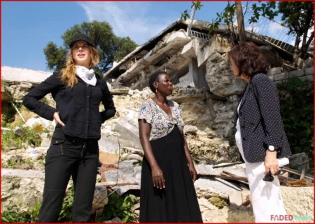 Николь Кидман посетила Гаити