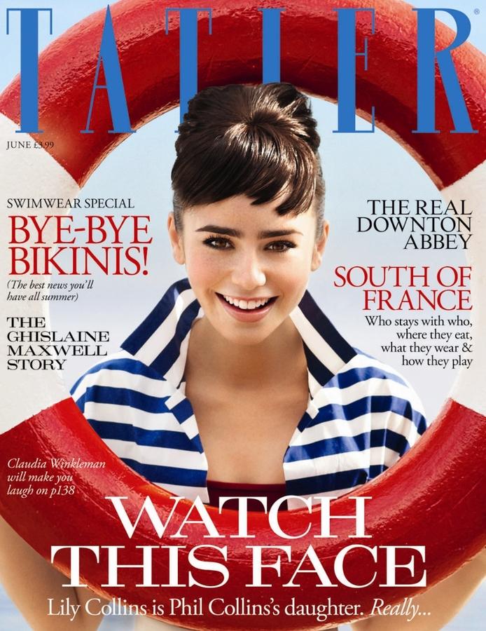 Лили Коллинз в журнале Tatler UK. Июнь 2011