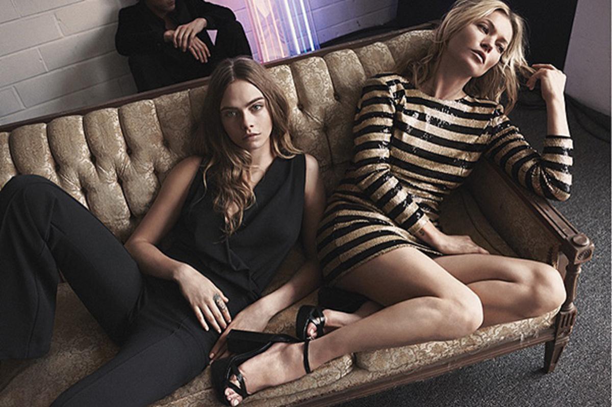 Кара Делевинь и Кейт Мосс снялись в новой рекламной кампании  Mango