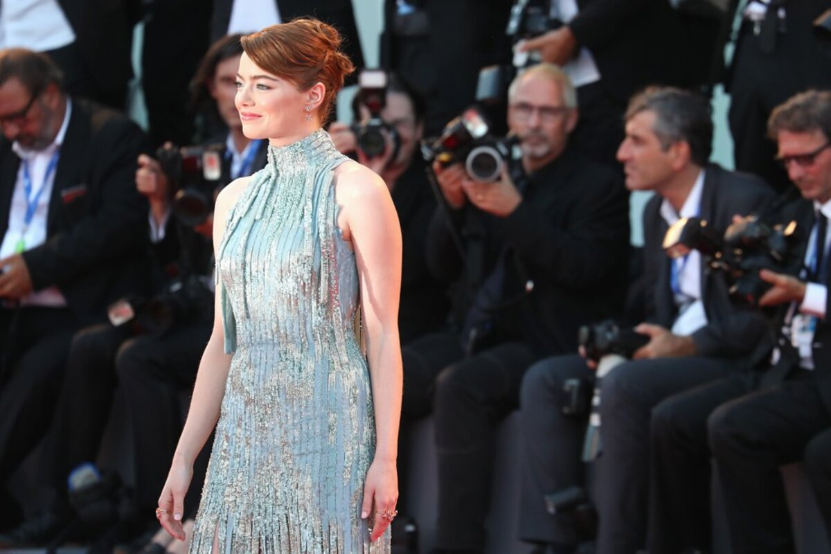 Эмма Стоун на премьере «Ла Ла Лэнд» в рамках Венецианского кинофестиваля