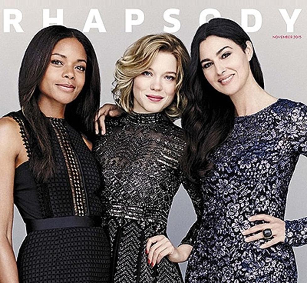 Девушки Бонда в сборе: Моника Беллуччи, Леа Сейду и Наоми Харрис на обложке модного глянца