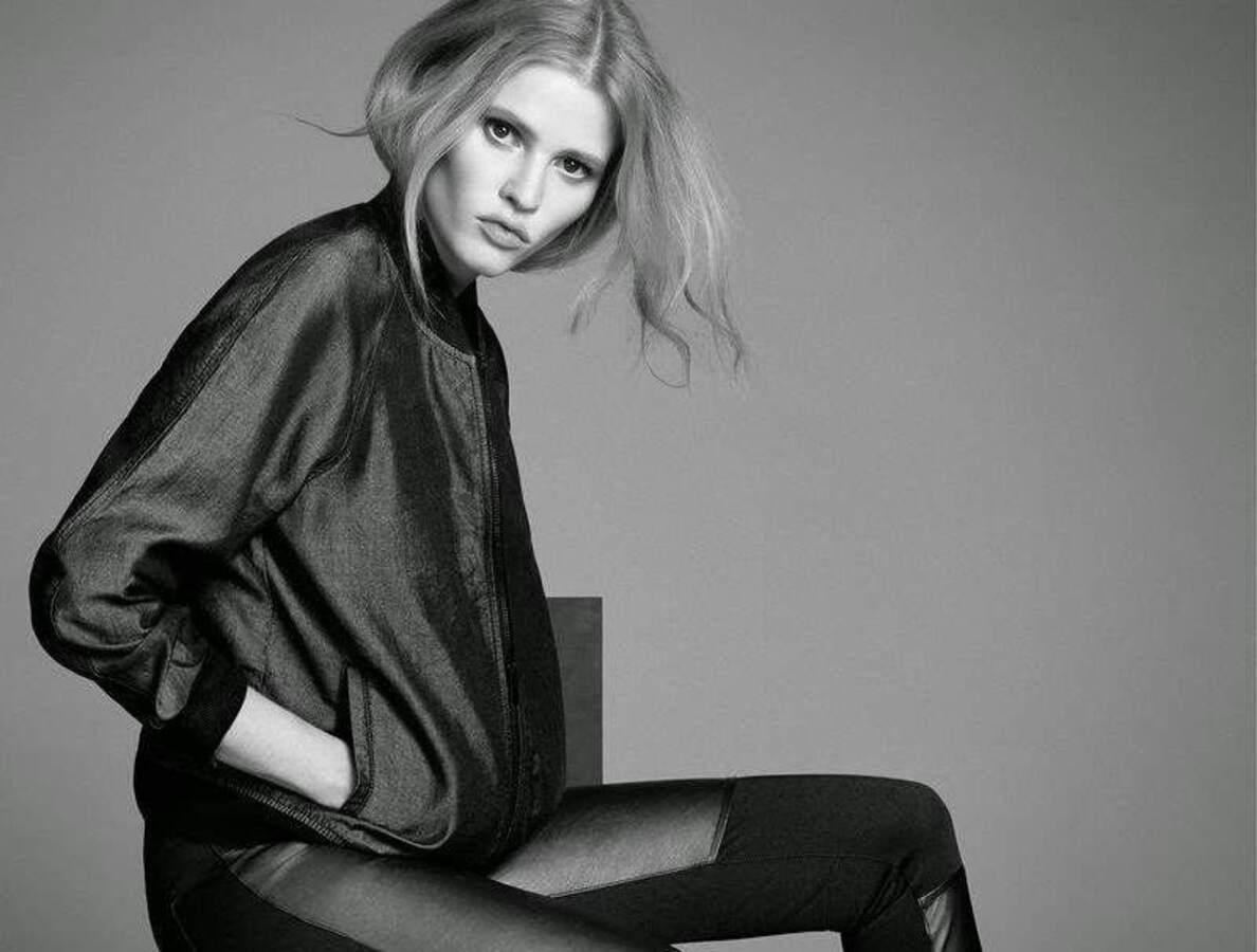Лара Стоун в рекламной кампании Calvin Klein Jeans. Осень 2014