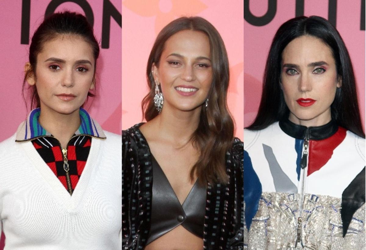 Нина Добрев, Алисия Викандер и Дженнифер Коннолли на открытии выставки Louis Vuitton X