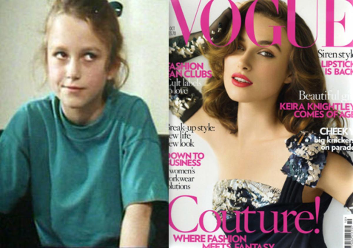 Кира Найтли: в детстве и сейчас