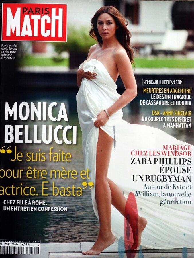 Моника Беллуччи в журнале Paris Match. Сентябрь 2011