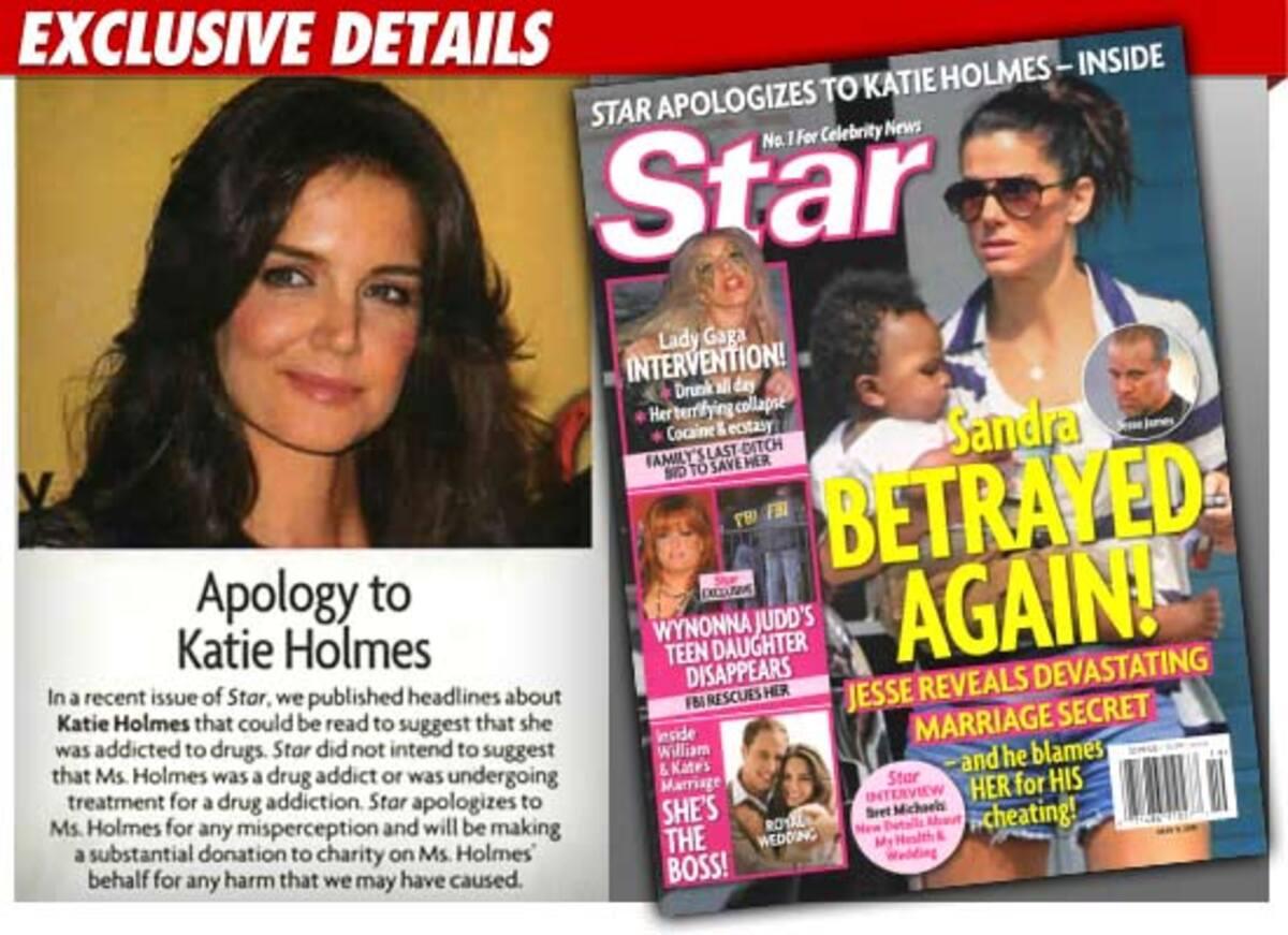 Журнал Star извинился перед Кэти Холмс