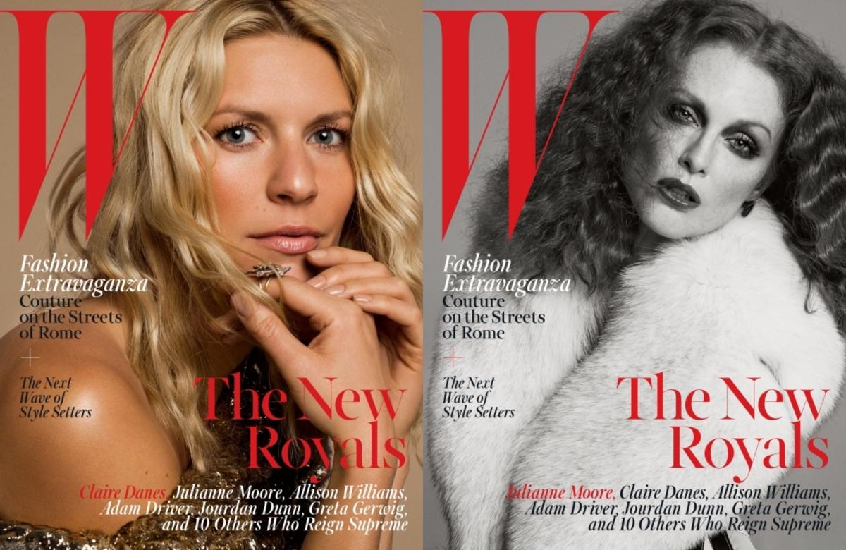 Клэр Дэйнс, Джулианна Мур и другие в журнале W Magazine. Октябрь 2015