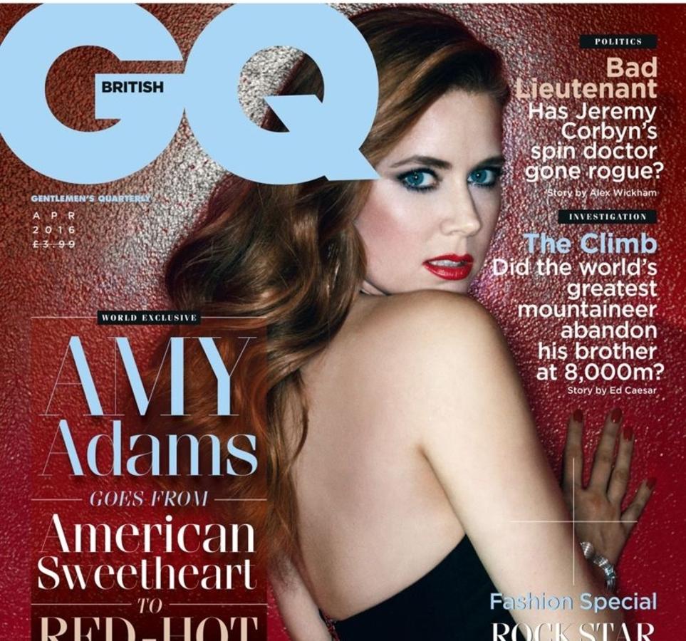 Эми Адамс в журнале GQ Великобритания. Апрель 2016