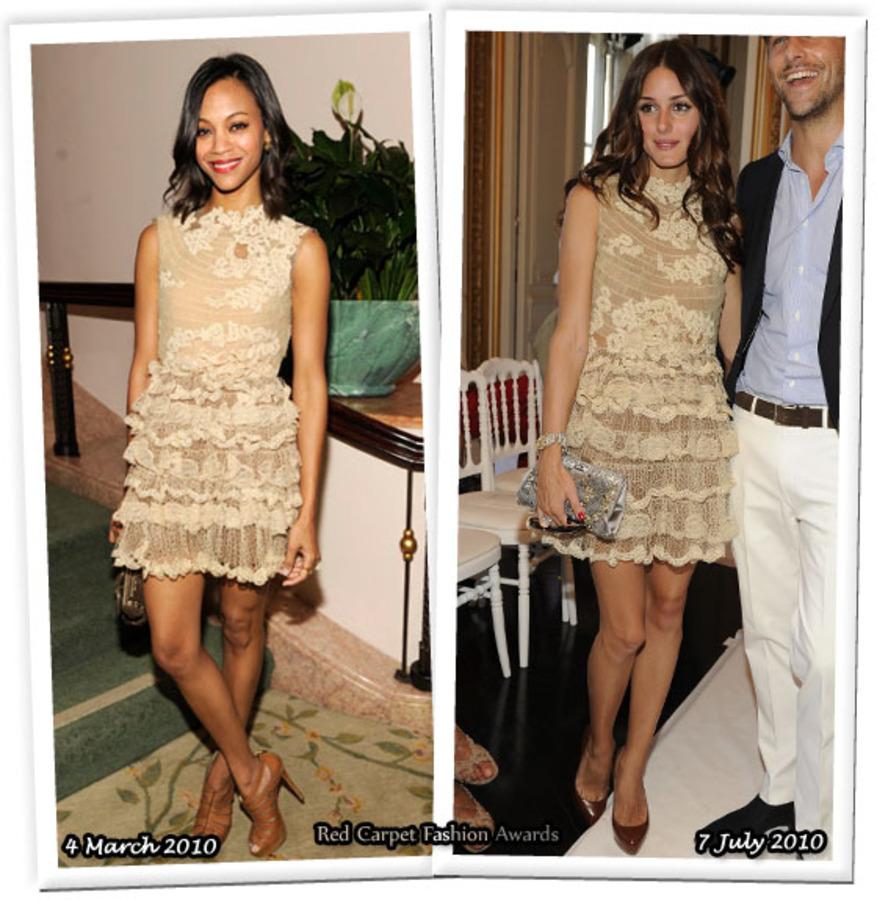 Fashion battle: Зои Салдана и Оливия Палермо